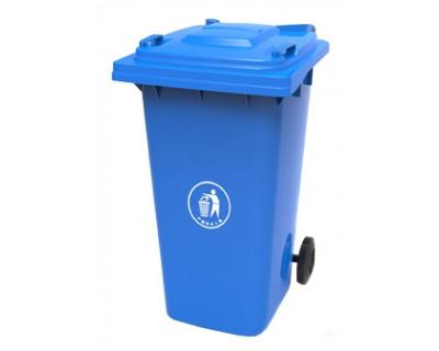 Бак для сміття пластиковий синій 120л, 120A-9BL