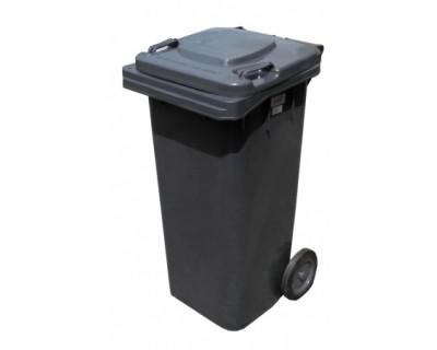 Бак для сміття пластиковий, темно-сірий, 120л, 120A-9DG