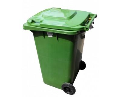 Бак для сміття пластиковий зелений 120л, 120A-9G