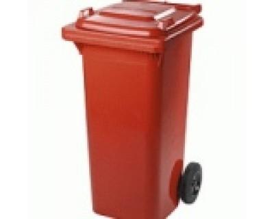 Бак для сміття пластиковий червоний 120л, 120A-9R