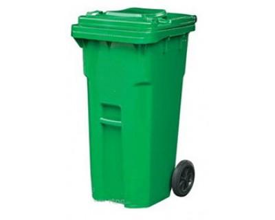 Бак для сміття пластиковий зелений 240 л, 240E-19G