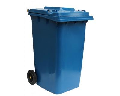 Бак для сміття пластиковий синій 240 л, 240H2-19BL