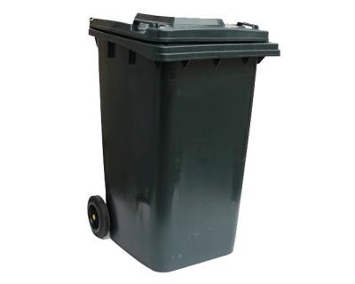 Бак для сміття пластиковий темно-сірий 240 л, 240H2-19DG