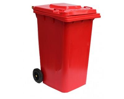 Бак для сміття пластиковий червоний 240 л, 240H2-19R