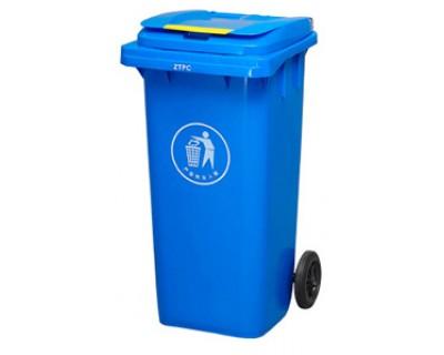 Бак для сміття пластиковий синій 360 л, 360A-2BL