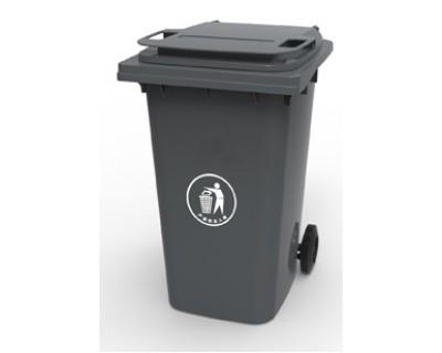 Бак для сміття пластиковий темно-сірий 360 л, 360A-2DG