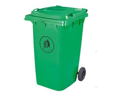 Бак для сміття пластиковий зелений 360 л, 360A-2G