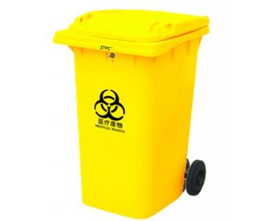 Бак для мусора пластиковый желтый 360 л, 360A-2Y