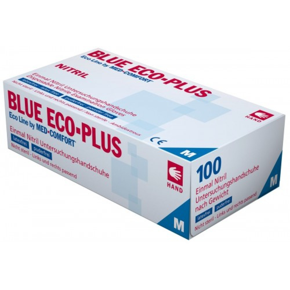Рукавички нітрилові без пудри Ampri BLUE ECO PLUS 01198-L