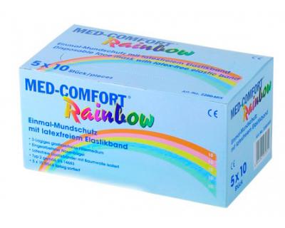 Маска захисна кольорова Rainbow, Ampri МED COMFORT 02201-Mix