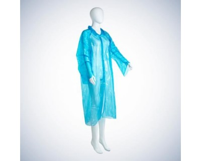 Халат ПЕ одноразовий, колір блакитний 05030-B