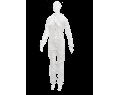 Комбінезон на блискавці, білий, 05164-W-XXXL