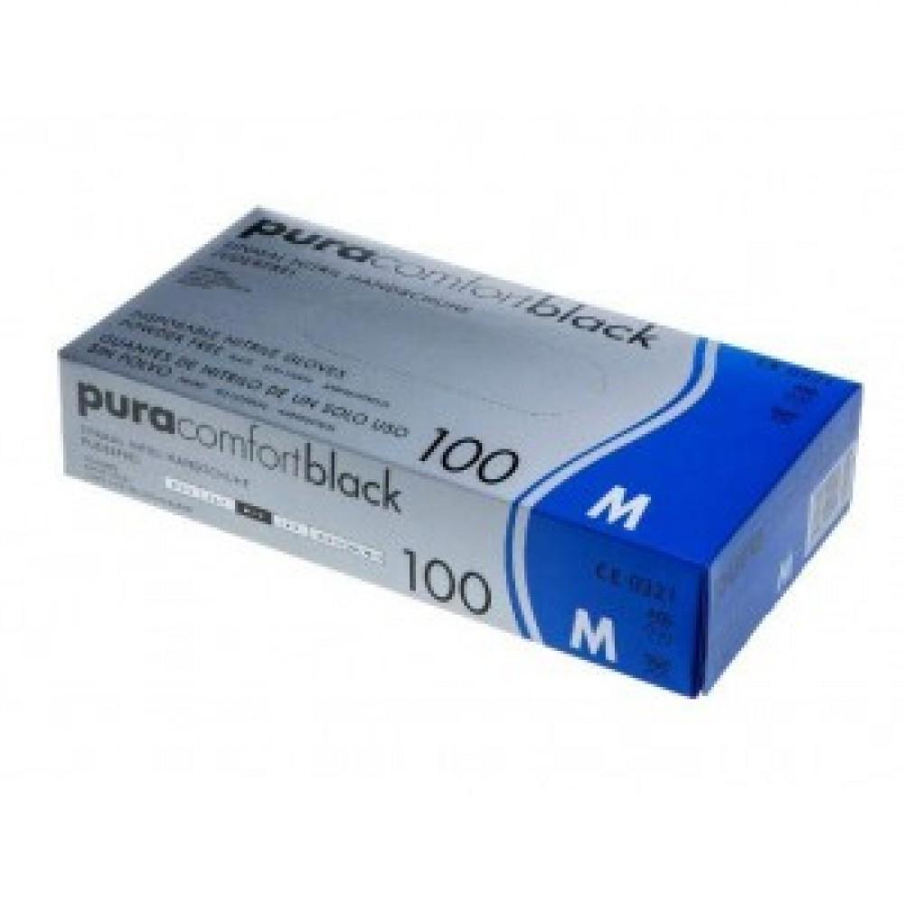 Рукавички нітрилові Ampri Pura Comfort Black 118-038-XL
