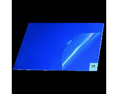 Липкий багатошаровий антимікробний коврик 90x115 см, синій