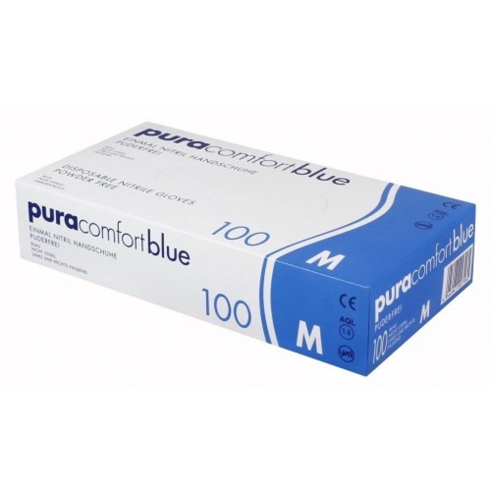 Рукавички нітрилові без пудри Ampri Pura Comfort Blue 970-013-XL