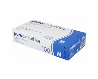 Рукавички нітрилові без пудри Ampri Pura Comfort Blue 970-013-L