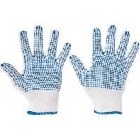 Перчатки рабочие хлопчатобумажные вязаные Quail, Cerva