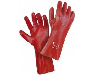 Перчатки с покрытием поливинилхлоридом Redstart 35см, Cerva