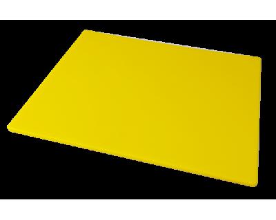 Дошка поліетиленова обробна Euroceppi 500х300х10 мм жовта