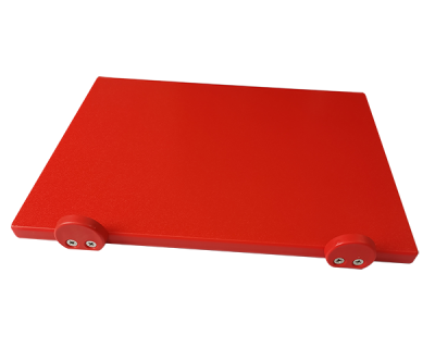 Дошка поліетиленова обробна Euroceppi з обмежувачами 500х400х20 мм червона