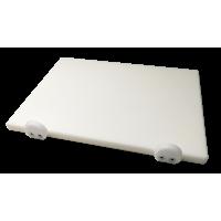 Дошка поліетиленова обробна Euroceppi з обмежувачами 400х300х20 мм біла