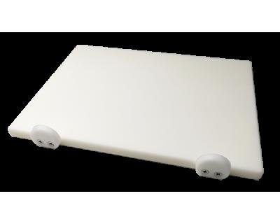 Дошка поліетиленова обробна Euroceppi з обмежувачами 500х400х20 мм біла
