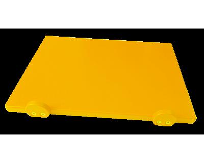 Дошка поліетиленова обробна Euroceppi з обмежувачами 500х400х20 мм жовта