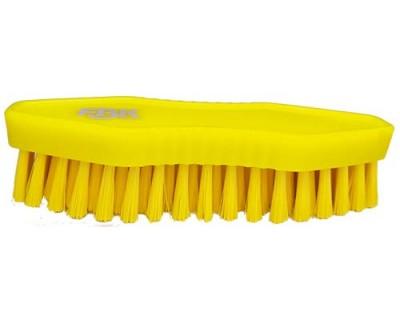Щітка-скраб ручна FBK 15067 180х60 мм жовта (середньої жорсткості)