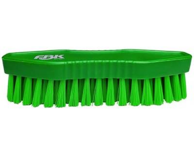 Щетка-скраб ручная FBK 15067 180х60 мм зеленая (средней жесткости)