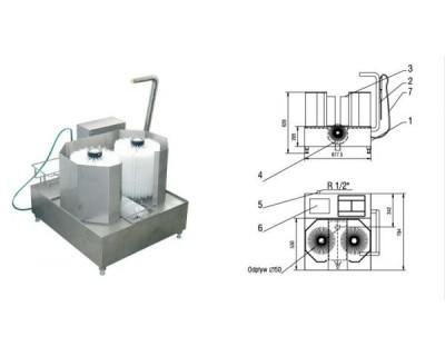 Мийка для взуття з 3 щітками Unimasz MPB-03