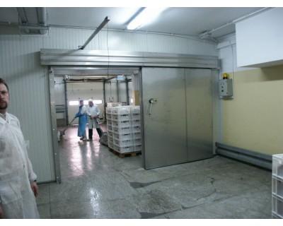 Холодильні двері автоматичні з нержавіючої сталі