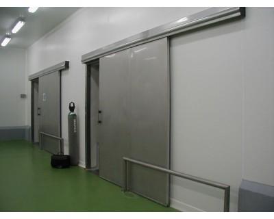 Холодильні двері розсувні з нержавіючої сталі