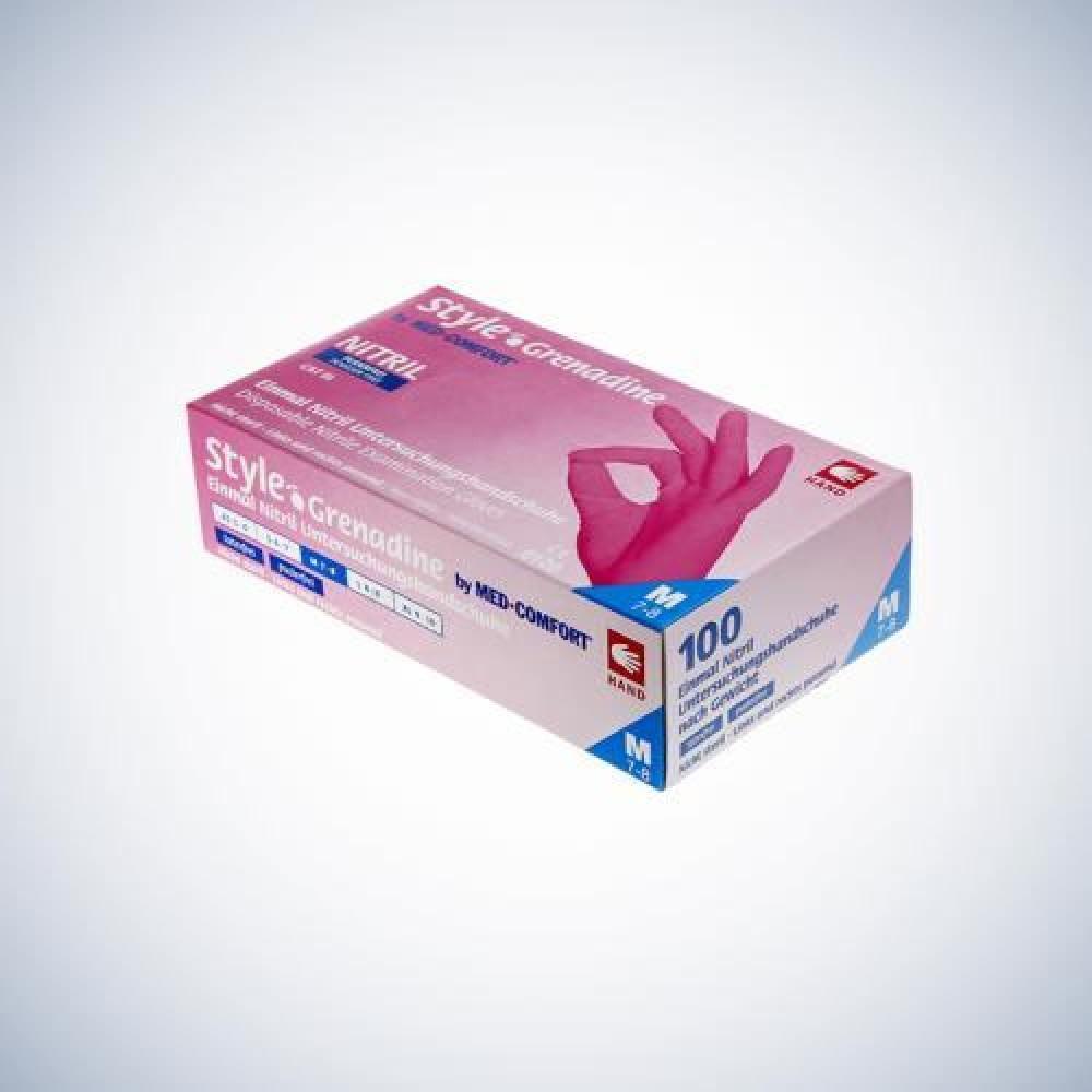 Рукавички нітрилові без пудри Ampri STYLE COLOR GRENADINE 01182-L