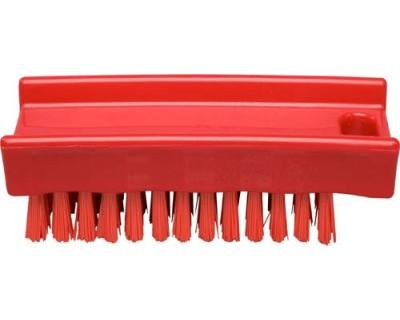 Щітка для миття рук FBK 15061 110х45 мм червона (жорсткий ворс)