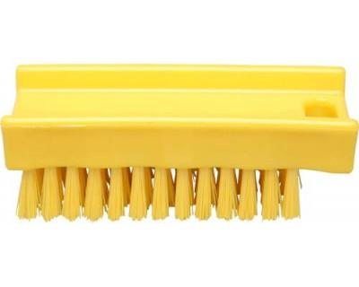 Щітка для миття рук FBK 15061 110х45 мм жовта (жорсткий ворс)