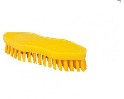 Щетка-скраб ручная FBK 15062 180х60 мм желтая (жесткий ворс)