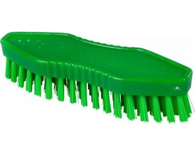 Щетка-скраб ручная FBK 15062 180х60 мм зеленая (жесткий ворс)