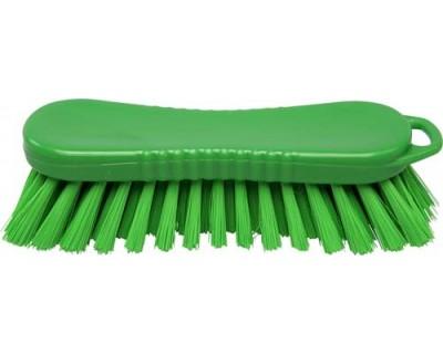 Щетка-скраб ручная FBK 15063 210х70 мм зеленая (жесткий ворс)