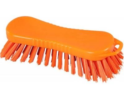 Щітка-скраб ручна FBK 15063 210х70 мм помаранчева (жорсткий ворс)