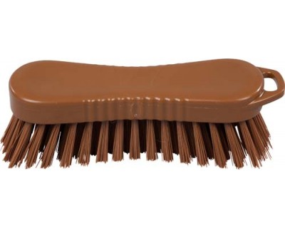 Щетка-скраб ручная FBK 15064 210х70 мм коричневая (средней жесткости)