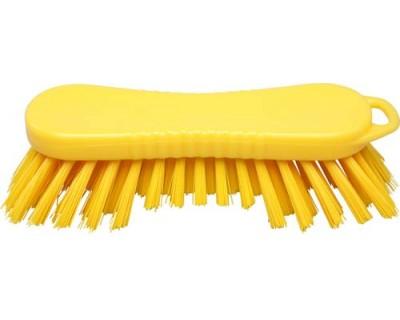 Щетка-скраб ручная FBK 15065 210х70 мм желтая (жесткий ворс)