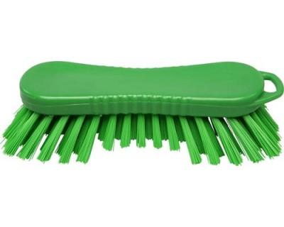 Щетка-скраб ручная FBK 15065 210х70 мм зеленая (жесткий ворс)