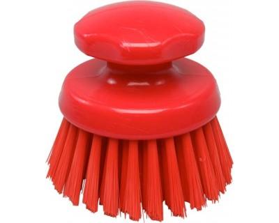 Щетка-скраб круглая FBK 54154 125 мм красная