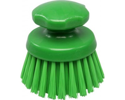 Щетка-скраб круглая FBK 54154 125 мм зеленая