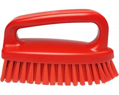Щітка-скраб у формі праски FBK 54434 185х60 мм червона