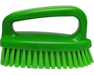 Щітка-скраб у формі праски FBK 54434 185х60 мм зелена