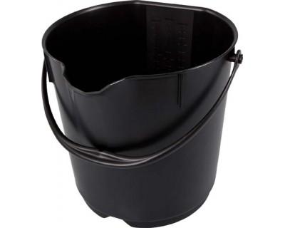 Ведро пищевое FBK 80101 черное 15л