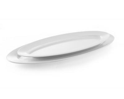 Блюдо овальне Hendi з фарфору 713х285х40 мм
